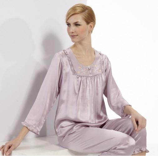 Női selyem pizsama - Női pizsama - Hernyóselyem ruhanemű - Termékek ... 5ca83b5eff
